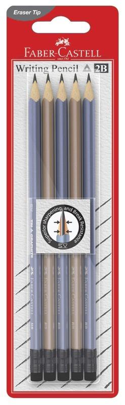 Faber-Castell: Eleganz Rubber Tip Pencil Set - 2B(5 Pack)