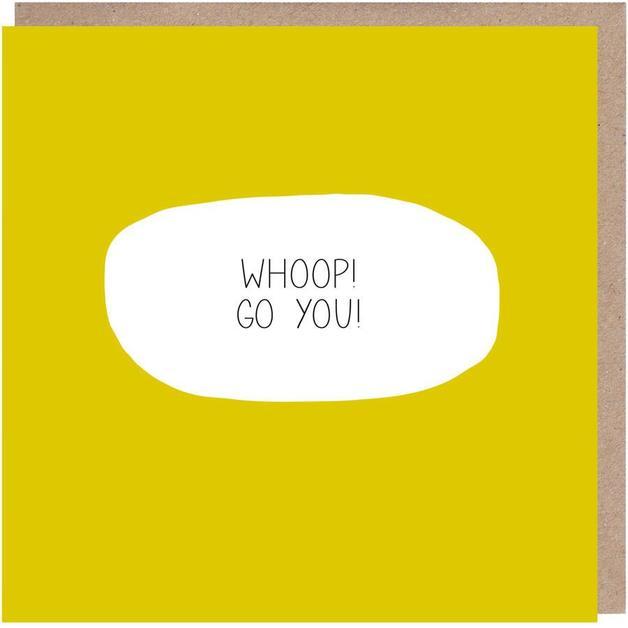 Colourblock: Whoop! Go You! Congratulations Card