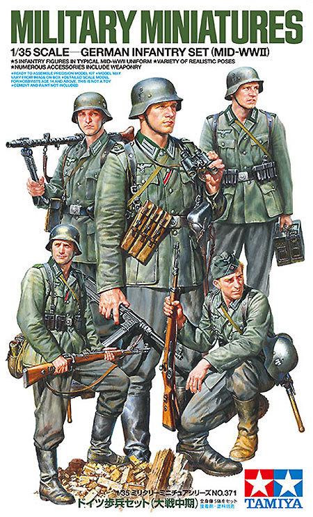 Tamiya German Infantry Set Mid-WWII scale 1/35