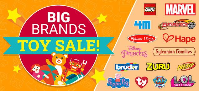 Big Brands Toy Sale!