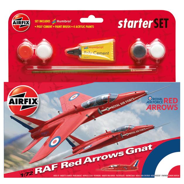 Airfix RAF Red Arrows Gnat Starter Set 1:72 Model Kit