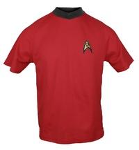 Star Trek: Operations Red Retro Starfleet T-Shirt - Large