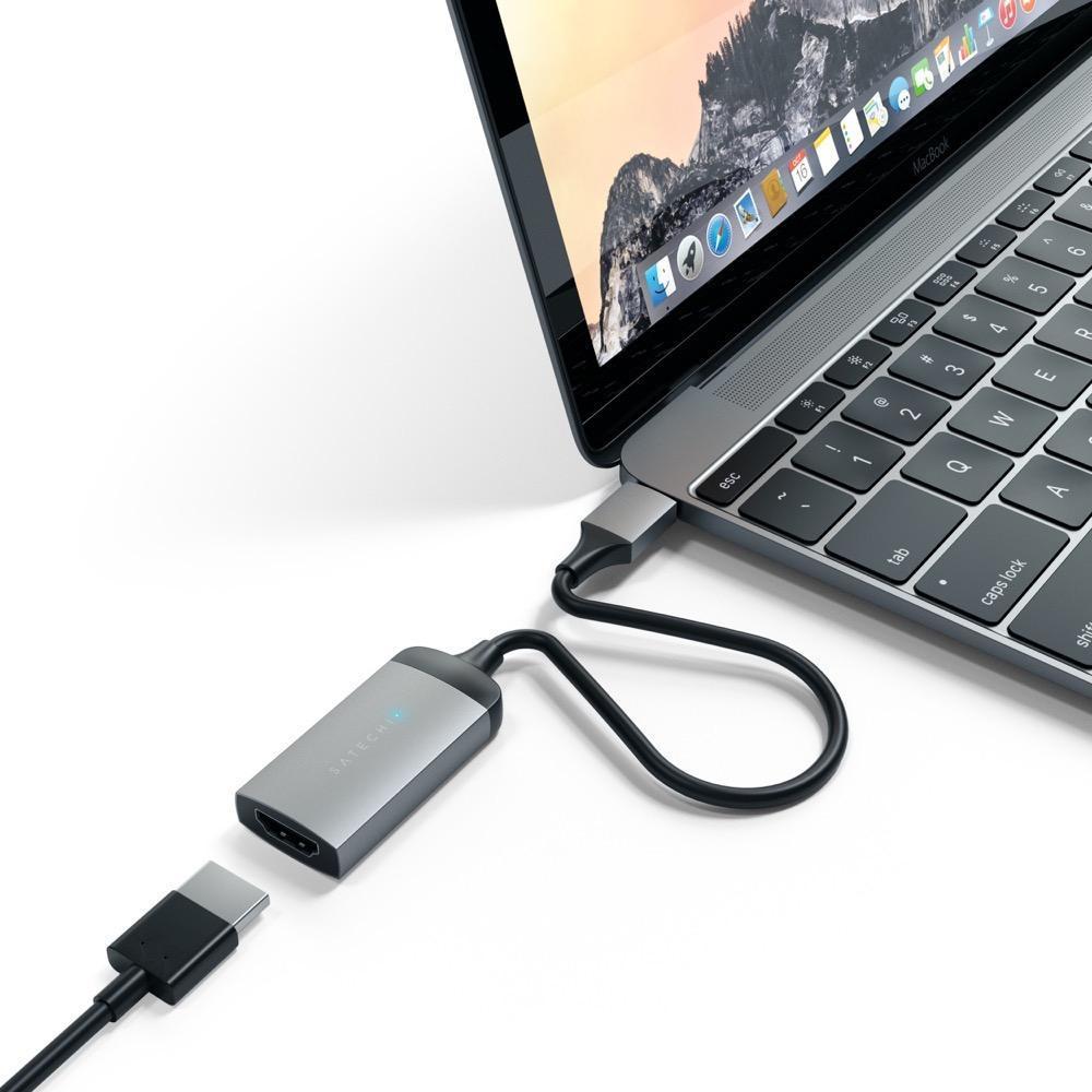 Satechi: Type-C to 4K HDMI Adaptor - Space Grey image