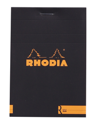 Rhodia with Cream Paper Black Blank