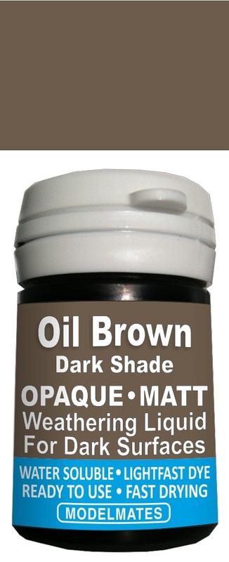 Modelmates: Opaque Weathering Liquid - Dark Oil