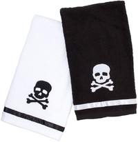 Sourpuss Skull Bathroom Hand Towel Set