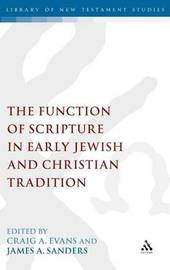 The Function of Scripture in Early Jewish and Christian Tradition image