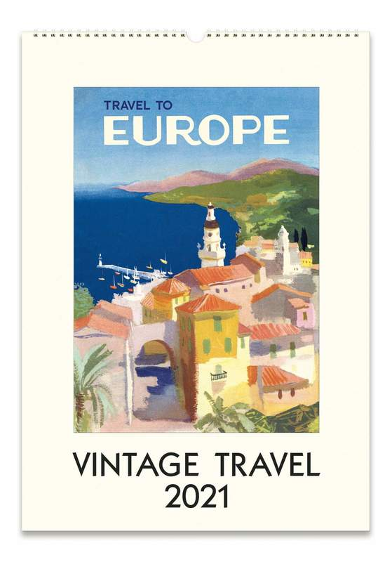 Cavillini & Co.: Vintage Travel 2021 Wall Calendar