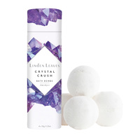 Linden Leaves Crystal Crush Bath Bombs - Amethyst