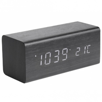 Karlsson Alarm Clock - Block (Black)