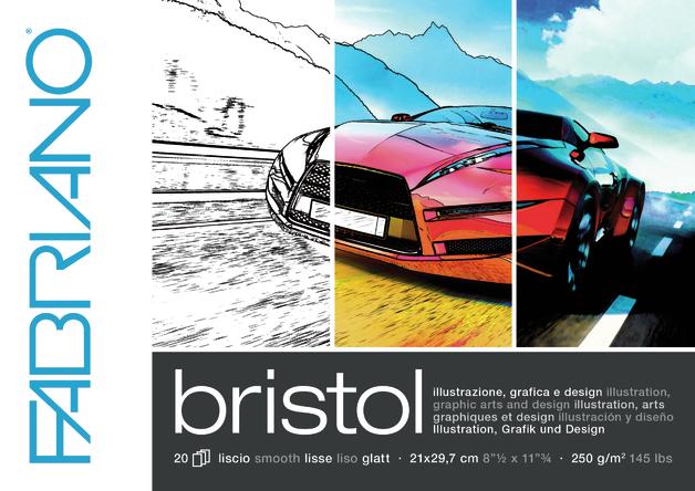 Fabriano: Bristol Pad - A4 250gsm (20 Sheets)