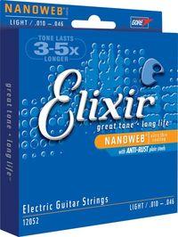 Elixir Light 10-46 NanoWeb Coating - Electric Guitar Strings