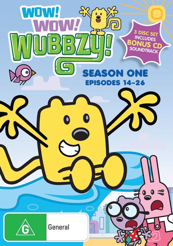 Wow! Wow! Wubbzy! - Season 1: Episodes 14-26 (3 Disc Set) on DVD