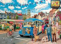 Holdson: 1000pce The Village Puzzle (Town Bus)