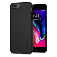 Spigen iPhone 8 Plus Thin Fit Case Black