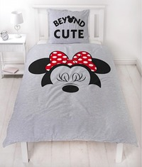 Minnie Mouse Cute Reversible Duvet Cover - Single