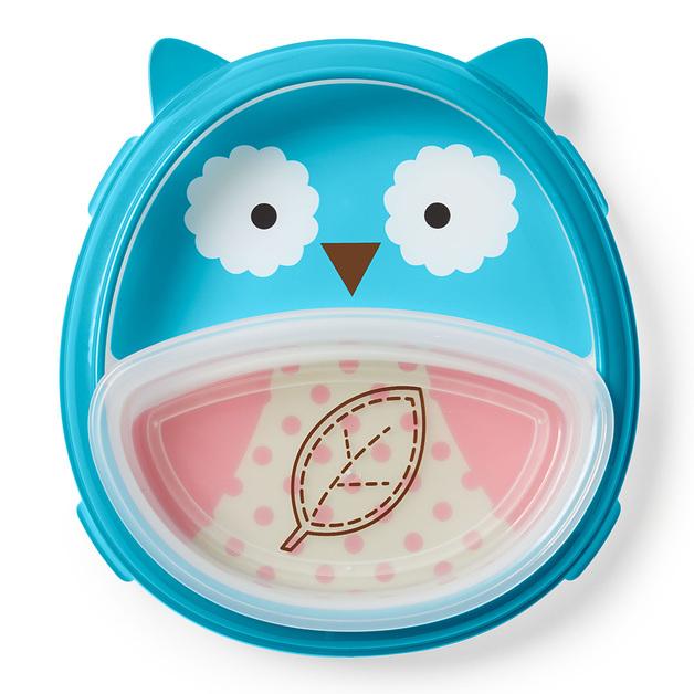 Skip Hop: Zoo Smart Serve Plate & Bowl - Owl