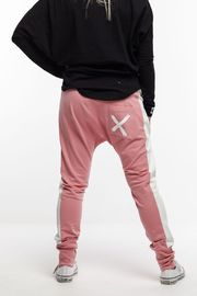 Home-Lee: Relaxer Pants - Rose Pink With X - 10 image