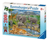 Ravensburger 200 Piece Jigsaw Puzzle - Animals in Africa