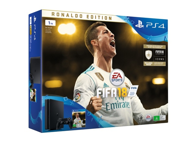 PS4 Slim 1TB FIFA 18 Ronaldo Edition Bundle for PS4
