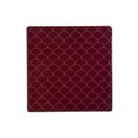 Maxwell & Williams Tessellate Ceramic Square Tile Coaster - Neptune Red (9.5cm)
