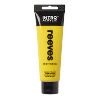 Reeves Intro Acrylic - Medium Yellow (120ml)