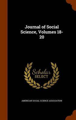 Journal of Social Science, Volumes 18-20
