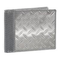 Stewart/Stand Stainless Steel Bill Fold Wallet - (Diamond Plate) Silver