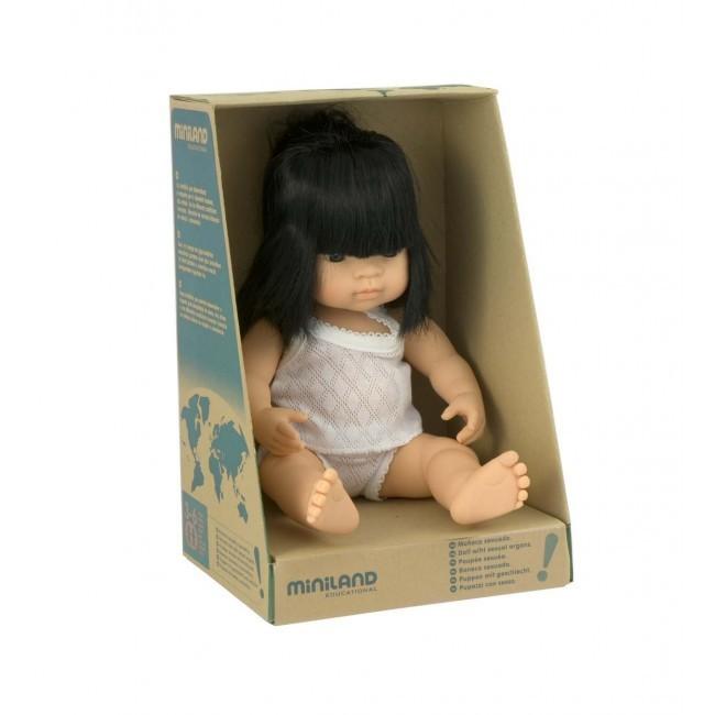 Miniland: Anatomically Correct Baby Doll - Asian Girl (38cm) image