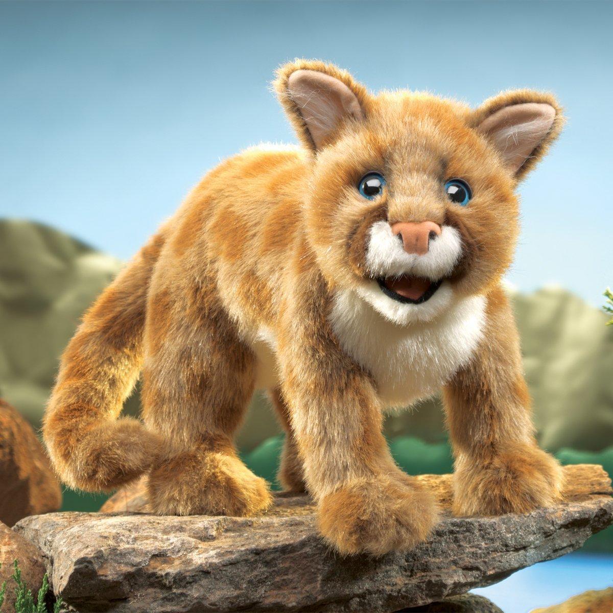 Folkmanis Hand Puppet - Mountain Lion Cub image