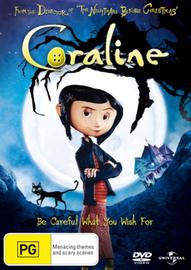 Coraline on DVD