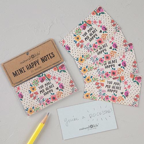 Natural Life: Mini Happy Notes - Heart Happy