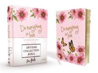 NIV, Artisan Collection Bible for Girls, Cloth over Board, Pink Daisies, Designed Edges under Gilding, Red Letter Edition, Comfort Print by Zondervan