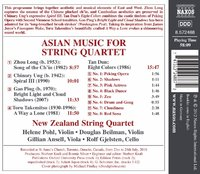 Asian Music for String Quartet by New Zealand String Quartet image