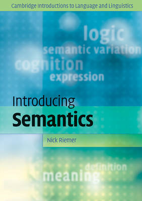 Cambridge Introductions to Language and Linguistics by Nick Riemer