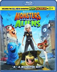 Monsters vs Aliens (includes 3D glasses) on Blu-ray