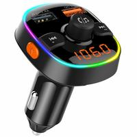 QC3.0 RGB light Car Charger - Bluetooth 5.0 & FM Transmitter