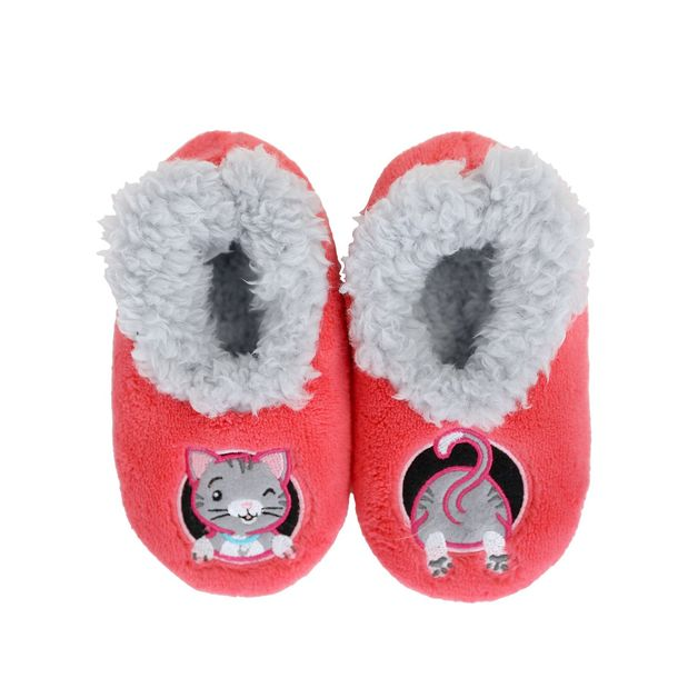 Slumbies: Cat Patch Pal - Toddler Slippers (Medium)
