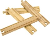 Bigjigs Rail Accessories - Long Straight Pieces