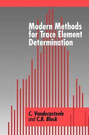 Modern Methods for Trace Element Determination by C. Vandecasteele image