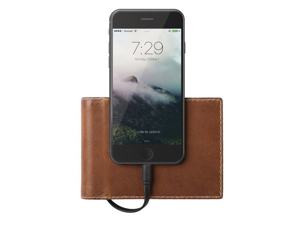 Nomad Horween Leather Charging Wallet - Bifold (Brown) image