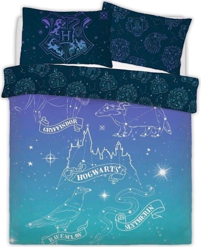 Harry Potter: Reversible Duvet Cover Bedding Set - Celestial Magic (Double)
