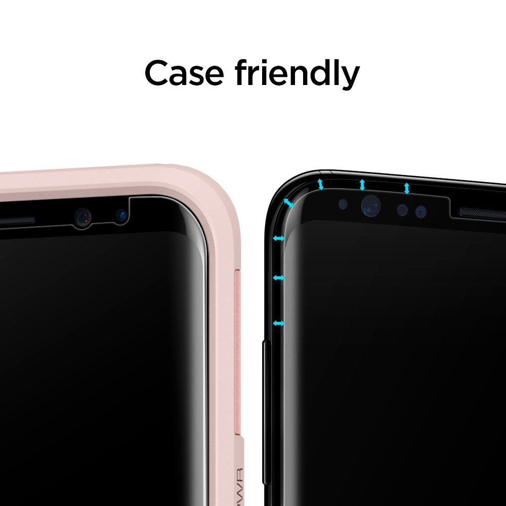 Spigen: Galaxy S8 - Curved Film Screen Protector Pack image
