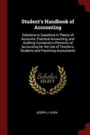 Student's Handbook of Accounting by Joseph J Klein image