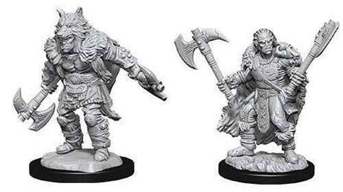 D&D Nolzur's Marvelous: Unpainted Miniatures - Male Half Orc Barbarian