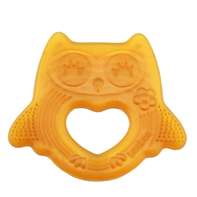 Haakaa: Natural Rubber Owl Teether - Smiling