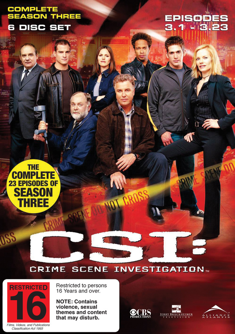 CSI - Las Vegas: Complete Season 3 (6 Disc Set) on DVD image