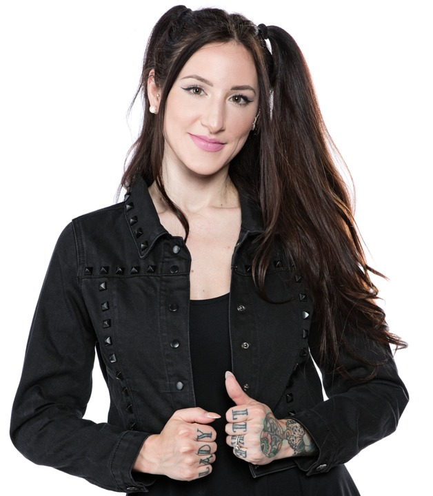 Sourpuss: Studded Eisenhower Jacket (Black) (M)