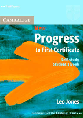 New Progress to First Certificate Self-study Student's Book by Leo Jones image