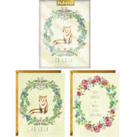 Papaya: Boxed Christmas Cards - Christmas Wreaths
